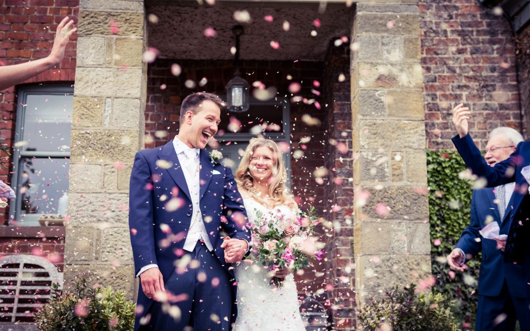 An intimate and flower-filled wedding day – Wedding photography at Tanfield House, Ripon